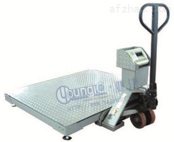 上海亚津带叉车移动式地磅价格