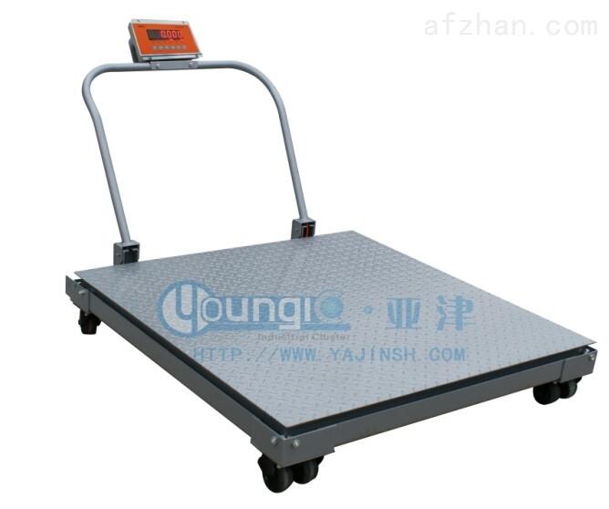 上海亚津1吨移动式地磅