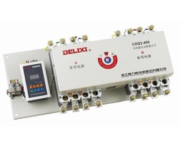 高仿德力西CDQ3-630/4P双电源自动转换开关 现货供应德力西CDQ3-100/225/400/630双电源切换开关,特价出售中,品质保证,提供强大的和售后服务保障。 德力西CDQ3-100基本参数 品牌:delixi/德力西 型号:CDQ3-100/225/400/630 极数:三级一体式 额定频率:50(Hz) 额定绝缘电压:690(V) 脱扣器电流:100/225、400/630(A) 产品认证:ISO9001-2000 安装方式:插入式 灭弧介质:空气式 结构:万能式 本公司以全国zui低价出