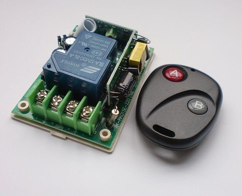 220v大功率宽电压遥控开关+别克两键遥控器